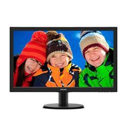 """Philips 243V5LHAB/00 23.6"""" LED 1920x1080 10 000 000:1 5ms 250cd HDMI DVI repro černý (poškozená krabice-plná záruka)"""