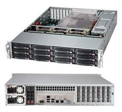 "SUPERMICRO 2U chassis 12x 3,5"" HS SAS/SATA (12G Expander 1x SFF 8643) + volitelný 2x 2,5"", 2x920W (80PLUS Platinum)"
