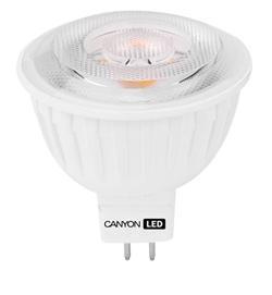 Canyon LED COB žárovka, GU5.3, bodová MR16, 7.5W, 540 lm, teplá bílá 2700K, 12V, 60 °, Ra> 80, 50.000 hod