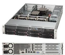 "SUPERMICRO 2U server 2x LGA2011-3, iC612, 16x DDR4 ECC R, 8x SATA3 HS (3,5""),2x1GbE, 2x740W, IPMI, WIO"
