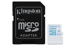 Kingston Micro SDHC karta do akčních kamer 32GB UHS-I U3 (čtení/zápis: 90/45MB/s) s adaptérem