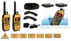 TOPCOM Protalker PT-1078, dosah 10 km, profesionální vodotěsné vysílačky (IPX7)