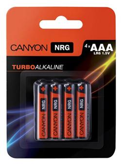 Canyon NRG alkaline battery AAA, 4pcs/pack