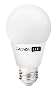 Canyon LED COB žárovka, E27, kulatá, 6W, 470 lm, teplá bílá 2700K, 220-240, 300 °, Ra> 80, 50.000 hod