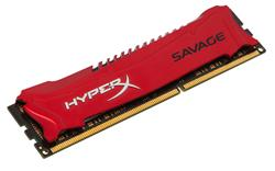 Kingston DDR3 4GB HyperX Savage DIMM 1600MHz CL9 červená
