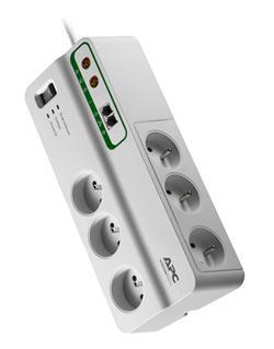 APC Home/Office SurgeArrest prepäťová ochrana 6 zás. + Phone & Coax Protection, 3m prívodný kábel