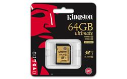 Kingston SDXC karta 64GB Class 10 UHS-I Ultimate flash (čtení/zápis: 90/45MB/s)