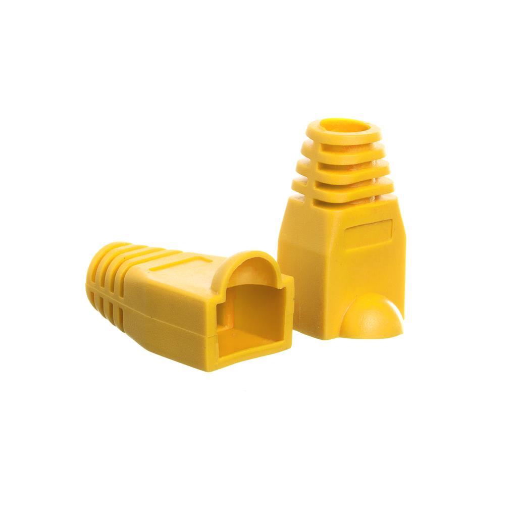 Netrack krytka na konektor RJ45 8p žlutá (100 ks)
