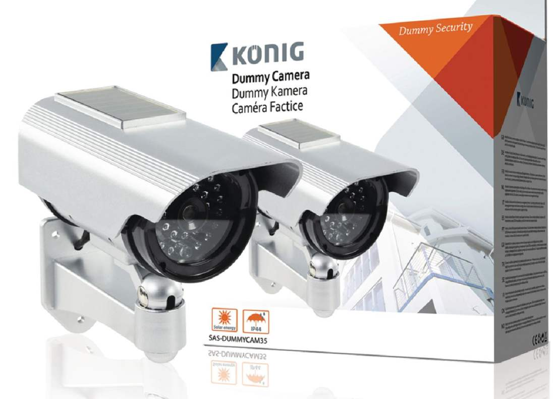 König SAS-DUMMYCAM35 - atrapa venkovní kamery, solar