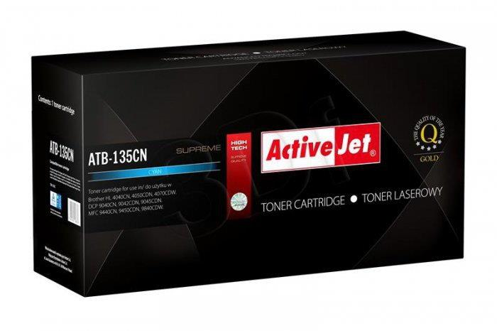 ActiveJet Toner BROTHER TN-135C Supreme (ATB-135CN) 4000 str.