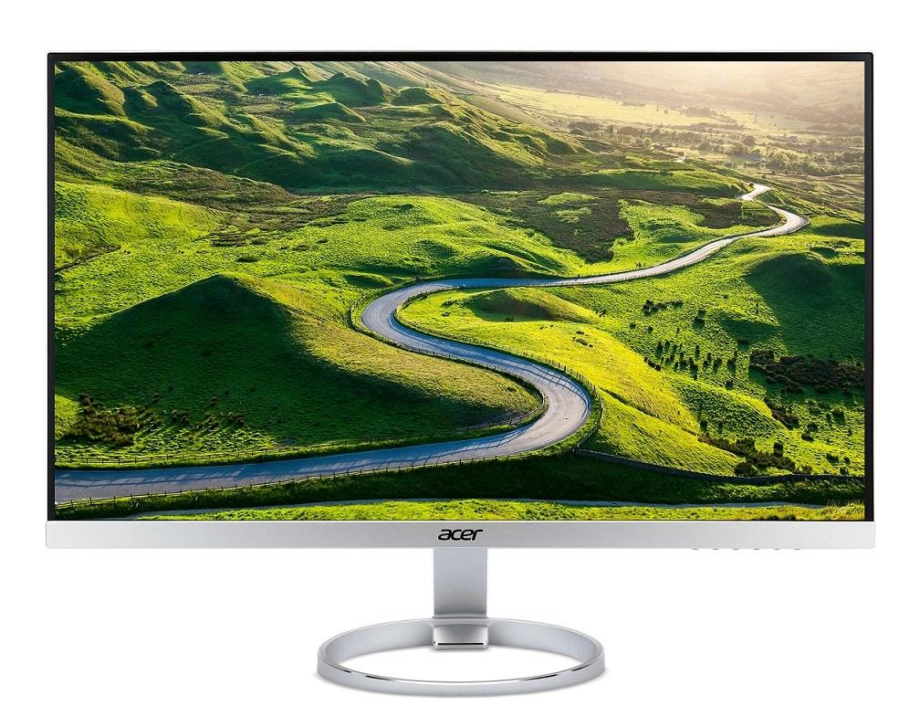 """Acer LCD H277HUsmipuz 27"""" IPS LED / WQHD 2560x1440/100M:1/4ms/350nits/ HDMI 2.0, DP, USB 3.1 (C)/ZeroFrame/repro / Silver"""