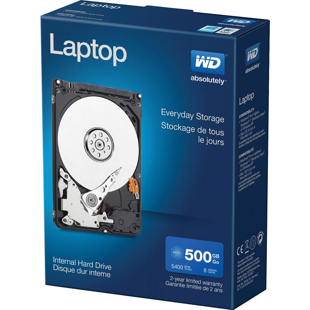 WD LAPTOP EVERYDAY 500GB 5400 8MB 3Gb/s EMEA