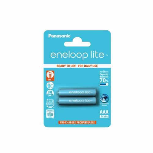 Panasonic Eneloop Lite R03/AAA 550mAh, 2 ks, Blister