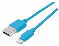 MANHATTAN iLynk Lightning Cable 1m pro iPad/iPhone/iPod modrý