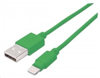 MANHATTAN iLynk Lightning Cable 1m pro iPad/iPhone/iPod zelený