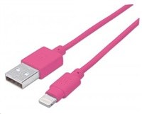 MANHATTAN iLynk Lightning Cable 1m pro iPad/iPhone/iPod ružový