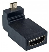 MANHATTAN HDMI A Female to Micro Male, 90° Up Angle