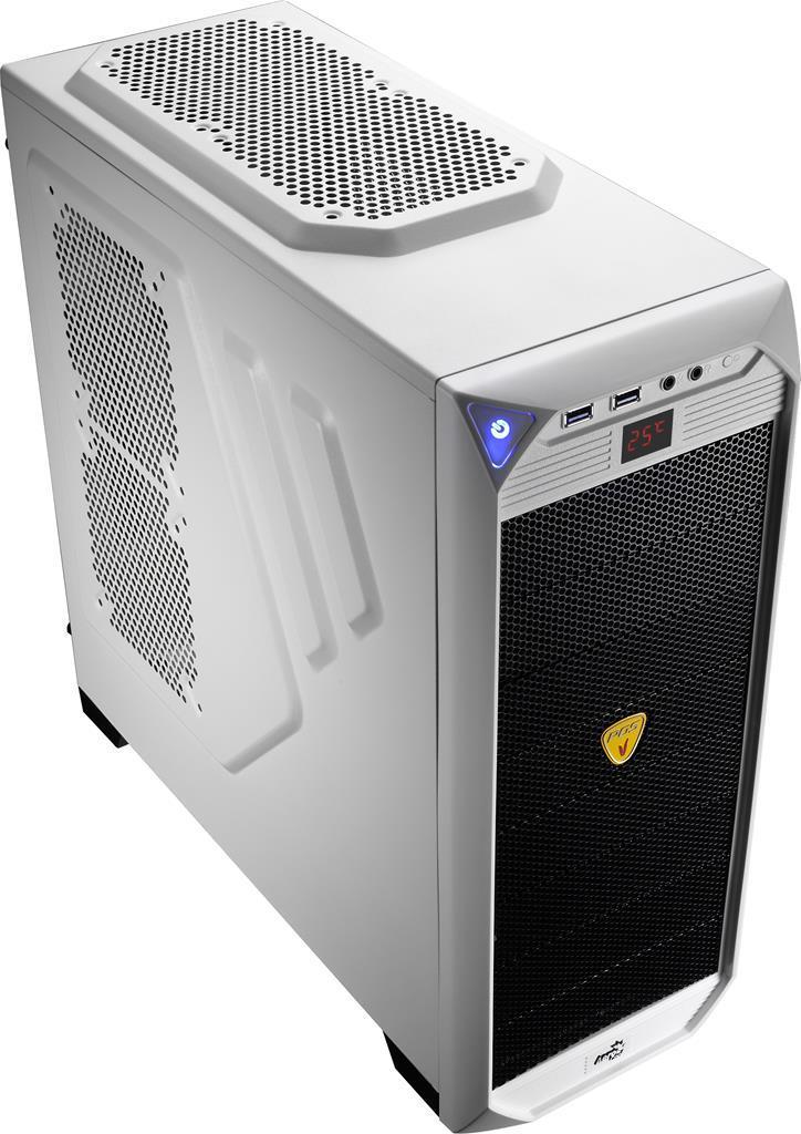 PC skříň Aerocool ATX PGS VS-92 White Edition, USB 3.0, černá (bez zdroje)
