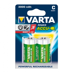 AKUMULATORY VARTA R14 (typC) 3000 mAh 2ks ready 2 use
