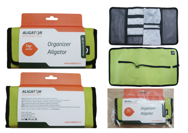 ALIGATOR cestovní organizér zelený