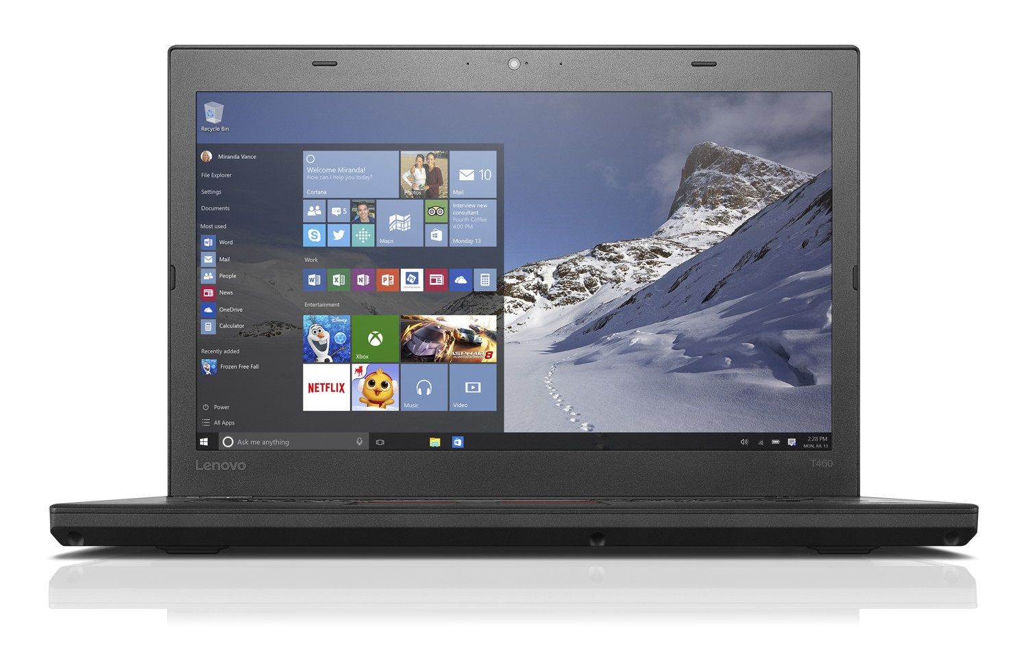 "Lenovo ThinkPad T460 i7-6600U/32GB/512GB SSD/HD Graphics 520/14""FHD IPS/4G/Win10PRO/Black"