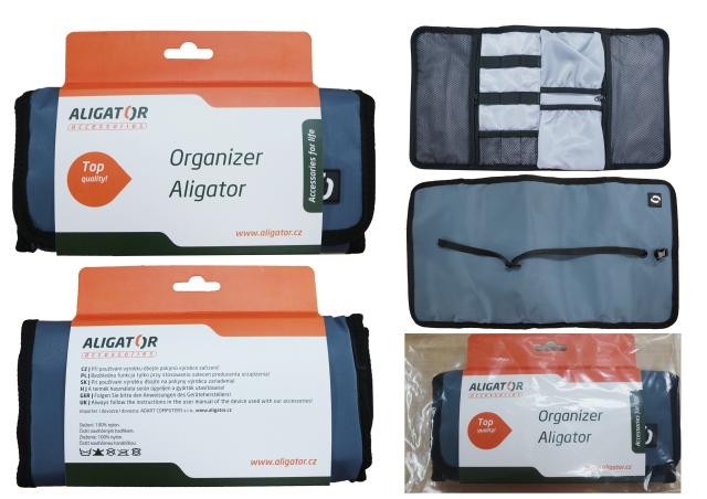 ALIGATOR cestovní organizér šedý
