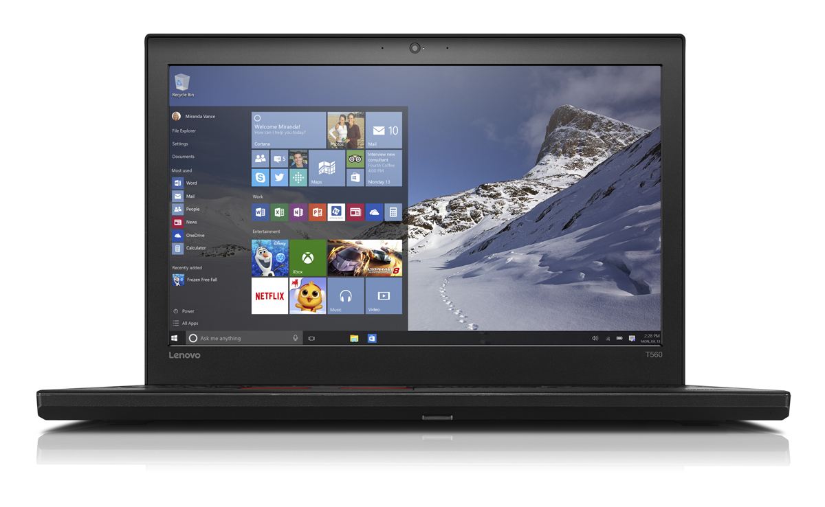 "Lenovo ThinkPad T560 i7-6600U/16GB/256GB SSD/HD Graphics 520/15,5"" 3K IPS/Win7PRO+Win10PRO/black"