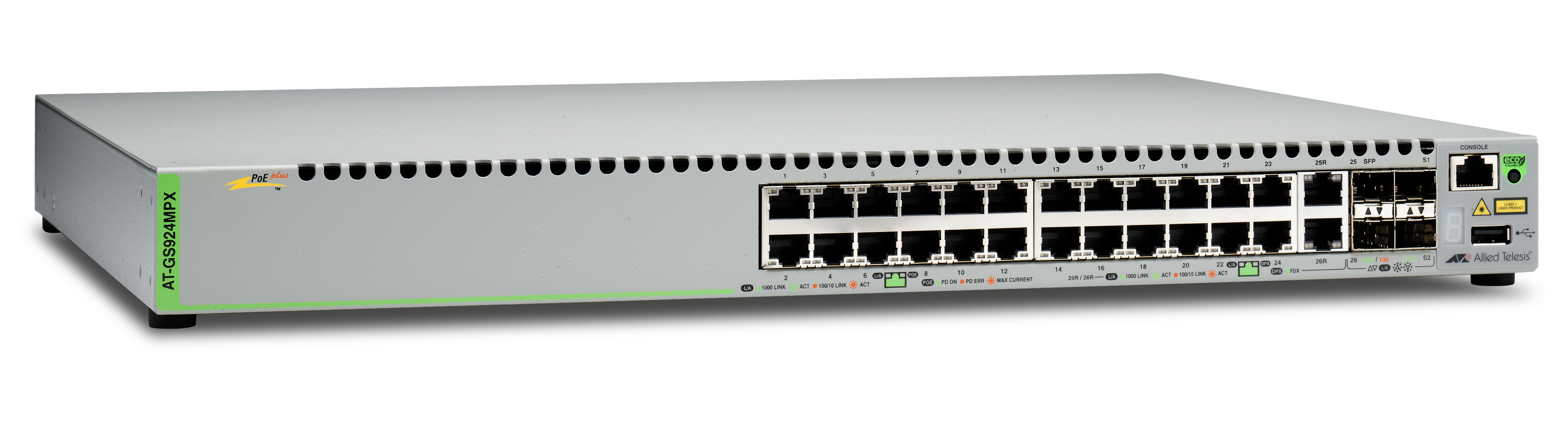 Allied Telesis CentreCOM AT-GS924MPX-50 1Gb switch