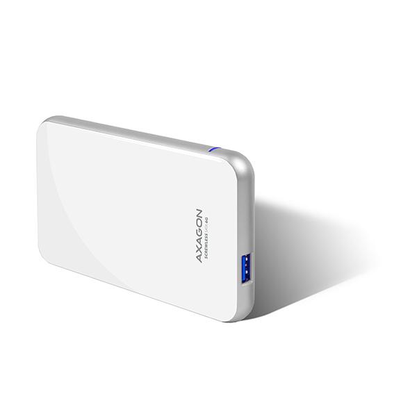 "AXAGON EE25-S6 USB3.0 - SATA 6G 2.5"" SCREWLESS box WHITE"