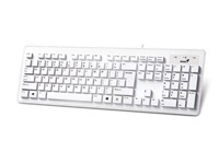 Genius Slimstar 130/ Drátová/ Apple design/ USB/ bílá/ CZ+SK layout