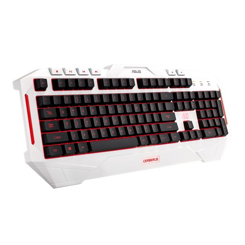 ASUS Cerberus arctic gaming keyboard (US layout) + dárek Cerberus gaming pad za 1 CZK/0,05 EUR
