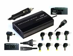 Napájecí univerzální adaptér 100W, AC 110-240V, DC 12-24V, manual, 9 koncovek