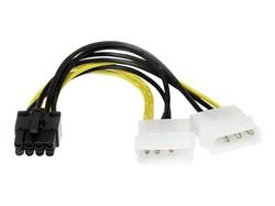 Power kábel / napájacia redukcia 2x 5,25 na 1x8PIN. 2xMOL na 8PIN PCIE