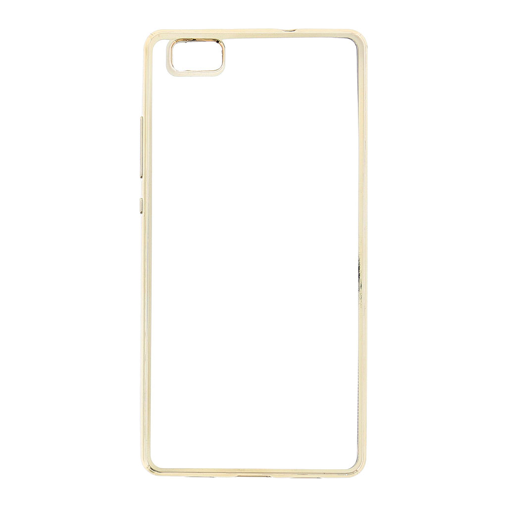Kisswill TPU Pouzdro Transparent/Gold, Huawei Ascend P8 Lite