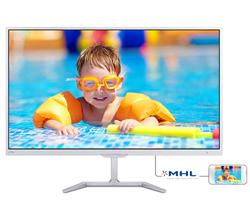 "Philips 276E7QDSW/00 27"" PLS LED 1920x1080 20 000 000:1 5ms 300cd HDMI DVI biely"