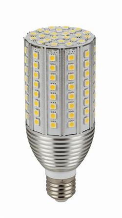 LED žiarovka E27 corn AL 120x5050 SMD, 18W, 2000 lm, teplá biela