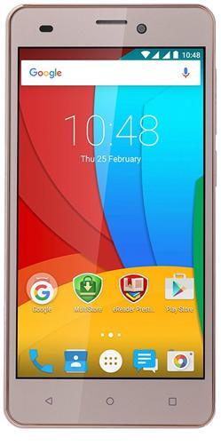 "PRESTIGIO Muze A5, 5.0"" HD IPS, Dual SIM, Android 5.1, Quad Core 1,2GHz, 1280*720, 8GB ROM,1GB RAM, 8+2Mpx, zlatý"
