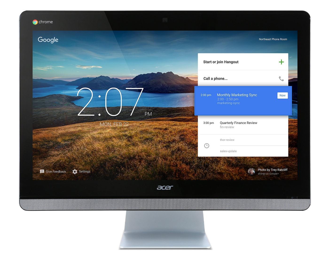 "Acer Chromebase CA24I ALL-IN-ONE 23,8"" FHD IPS LED/Celeron 3215U/2x 2GB/16GB M.2/HD Graphics/Webcam/Chrome OS"