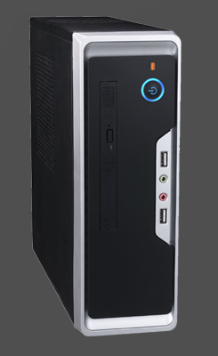 Eurocase Mini ITX WI-01, desktop/tower, 2xUSB, audio