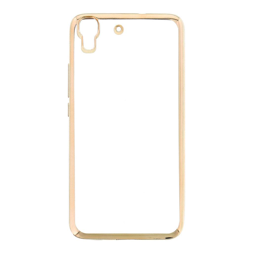 Kisswill TPU Pouzdro Transparent/Gold, Huawei Ascend Y6