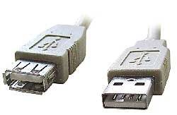 Kábel USB 2.0 A-A predlžovací 1,8m