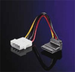 SATA Power kábel / napájacia redukcia. Lomený 90 hore