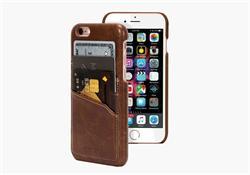 CYGNETT iPhone 6S&6 premium peněženkové slim pouzdro, hnědá kůže
