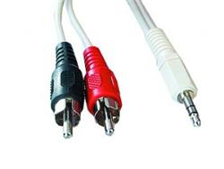 kábel Jack 3.5M - 2x Cinch M Stereo 5M