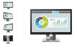 HP EliteDisplay E202, 20 IPS, 1600x900 HD+, 1000:1, 7ms, 250cd, VGA, DVI, DP, USB, PIVOT, 3y