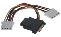 """Gembird Kabel Y napájeci k HDD SATA na 3x 5,25"""" F 16cm"""