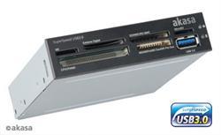 AKASA AK-ICR-14 USB 3.0 čtečka karet s eSATA s USB panelem