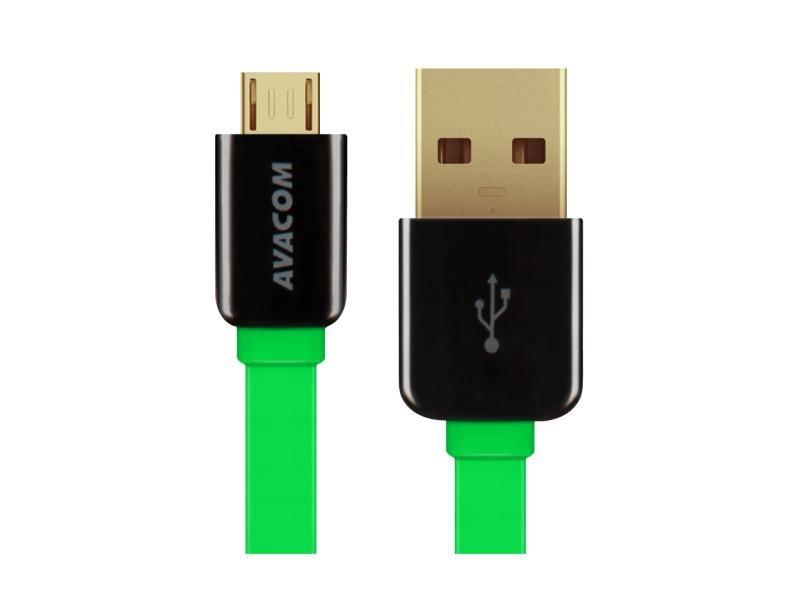 AVACOM MIC-40G kabel USB - Micro USB, 40cm, zelená