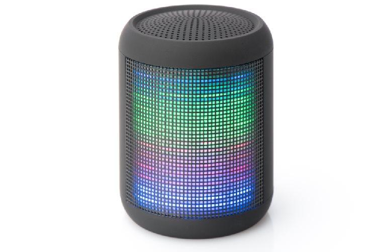 Ednet Mellow LED Bluetooth reproduktor, BT 3.0 FM radio, 4 světelné motivy, 3W výstup, hands-free 1.000 mAh baterie, černá