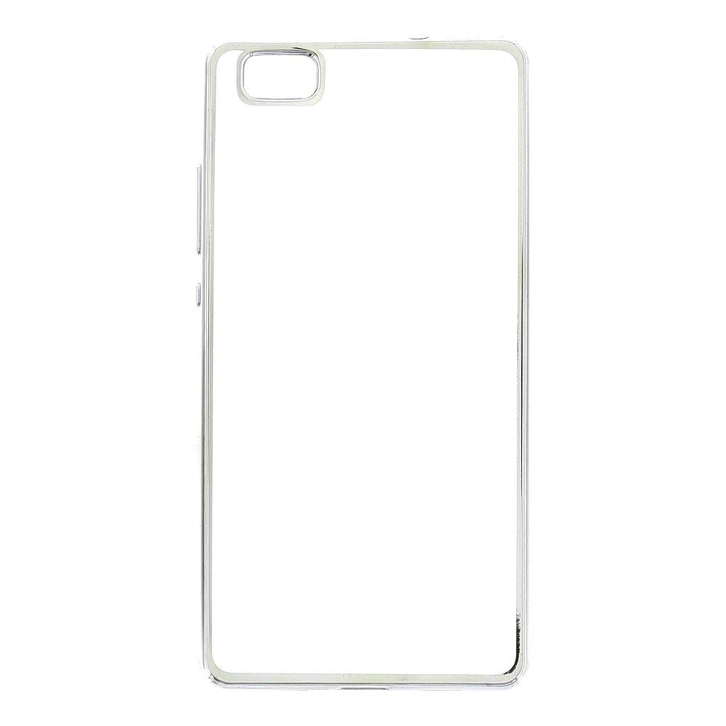Kisswill TPU Pouzdro Transparent/Silver, Huawei Ascend P8 Lite
